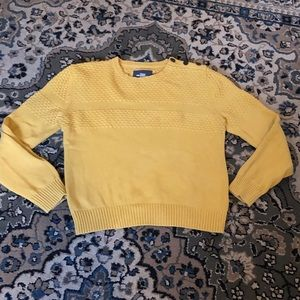 H&M Yellow Crewneck Sweater size Large